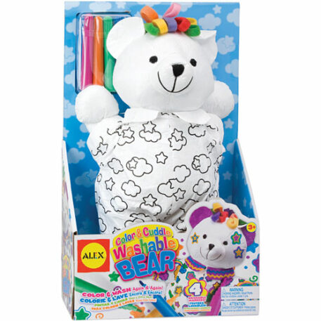 Color and Cuddle Washable Bear