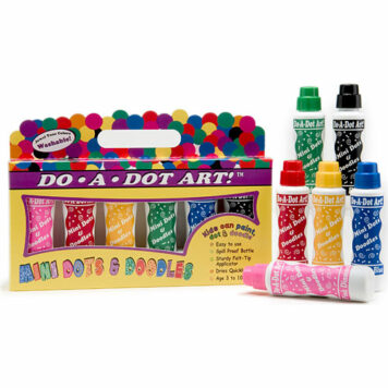 MINI Dot-Art Markers 6-Pk Jewel Tone [Washable]