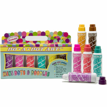 MINI Dot-Art Markers 6-Pk Island Bright [Washable]