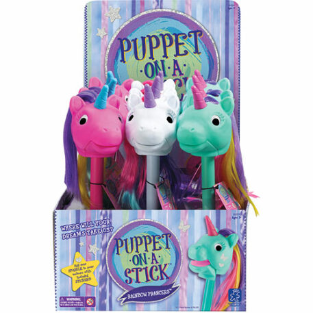 Rainbow Prancers Puppet-On-A-Stick Display ( 9 Units)