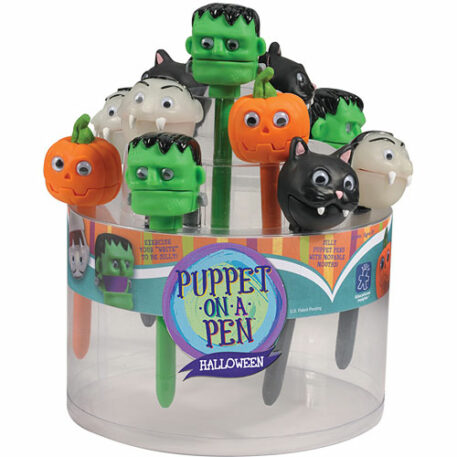 Halloween Puppet-On-A-Pen Counter Display (24 Units)