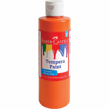 Orange Tempera Paint (8 oz bottles)