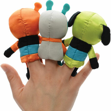Moonwalkers Finger Puppets (3 styles, 4 pcs each)