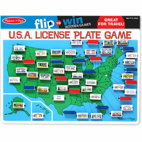 U.S.A. License Plate Game