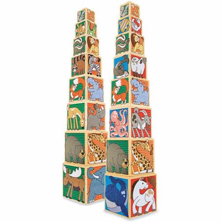 Wooden Animal Nesting Blocks