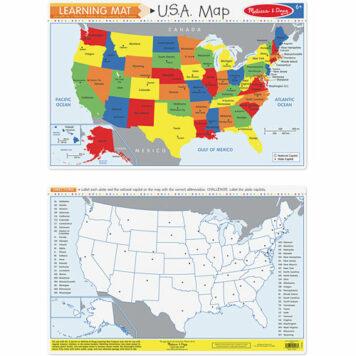 U.S.A. Map (Bundle of 6)