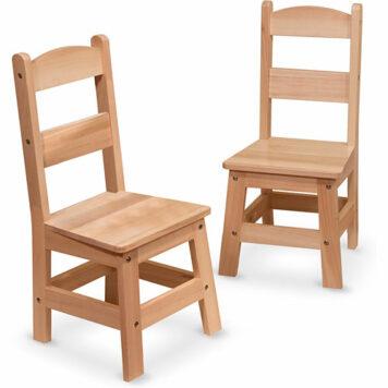 Wooden Chair Pair