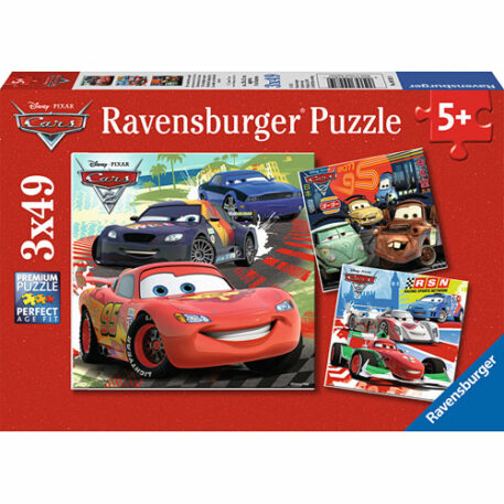 Worldwide Racing Fun (3 x 49 pc Puzzles)