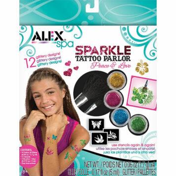 ALEX Spa Fun Sparkle Tattoo Parlor-Peace and Love