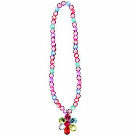 Flower Gem Bead Necklace