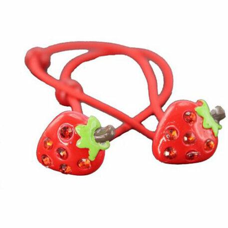 Boasting Berry Strawberry Hair Ties
