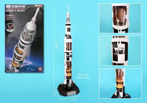 4D Vision Saturn V Cutaway Model 1/100
