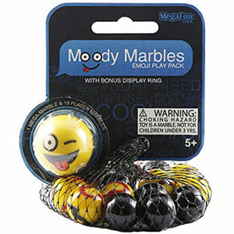 Crazy Moody Mibster Marbles Emoji Play Pack with Bonus Display Ring