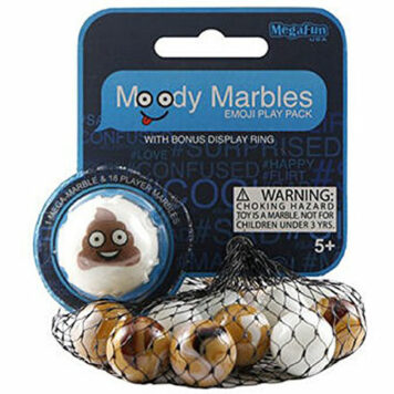 Poop Moody Marbles Mibster Net Set 19 Pc w/ Bonus Display Ring