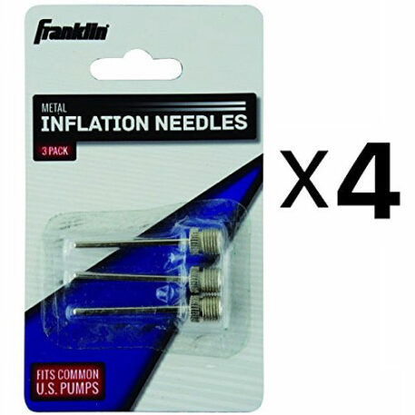 Franklin Sports Metal Inflating Needles Heavy Duty 3 Pc For Ball Pump (4-Pack)