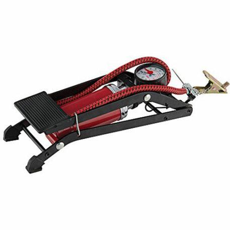 Franklin Sports High Pressure Foot Pump, Black/Red