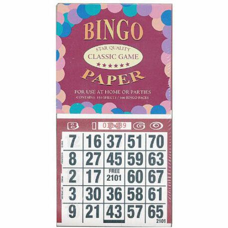 Bingo Paper Star Quality Classic Game