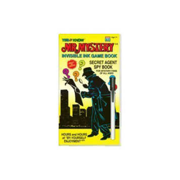 "YES & Know Mr. Mystery Secret Agent Spy - Invisble Ink Game Book ""Colors & Styles May Vary"""