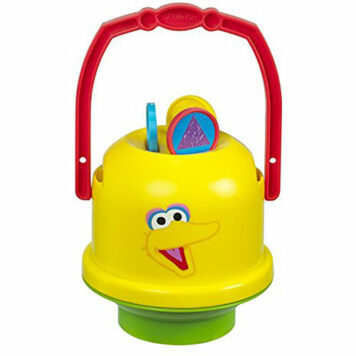 Little Kids Sesame Street Mini No-Spill Bubble Bucket Big Bird Toy (2 Pack)