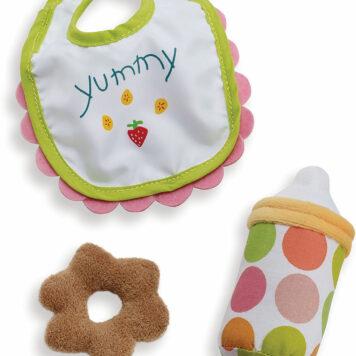 Wee Baby Stella Feeding Set (Bib, Bottle, Teething Biscuit)