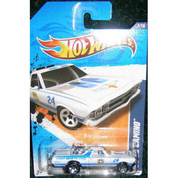 2011 HOT WHEELS HW MAIN STREET '11 7/10 WHITE FORT WORTH FIRE '68 EL CAMINO 167/244