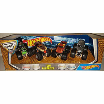 Hot Wheels Monster Jam Tour Favorites: Grave Digger, Monster Mutt, El Toro Loco, N.E.A. Police