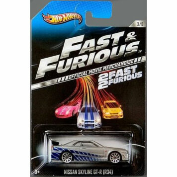 2013 Hot Wheels Fast & Furious 2 Fast 2 Furious Official Movie Merchandise Limited Edition Nissan Skyline GT-R (R34) 3/8 by Matt