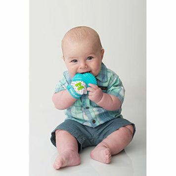 Munch Mitt Baby Teething Mitten Aqua Blue