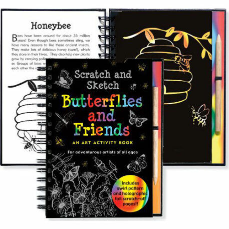 Scratch and Sketch Butterflies and Friends (Art Activity Book) (Scratch & Sketch)