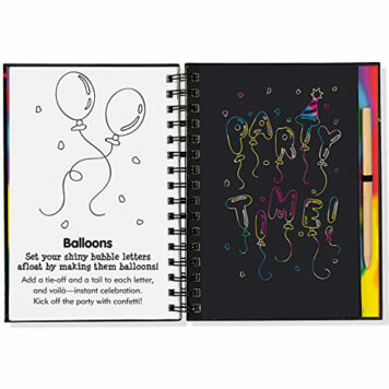 Bubble Art Scratch & Sketch (Trace-Along)