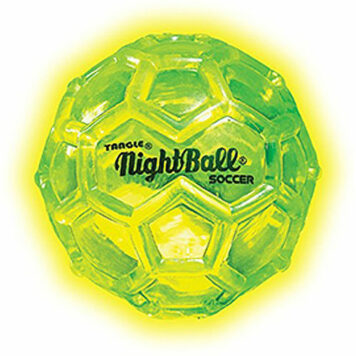 Tangle NightBall Glow in the Dark Light Up LED Mini Ball - 3 Pack (Blue, Green, Yellow)