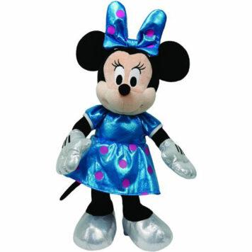 Ty Beanie Buddies Minnie Teal Sparkle Medium Plush
