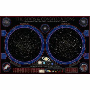 Hemisphere Wonders of The Constellations Space Chart