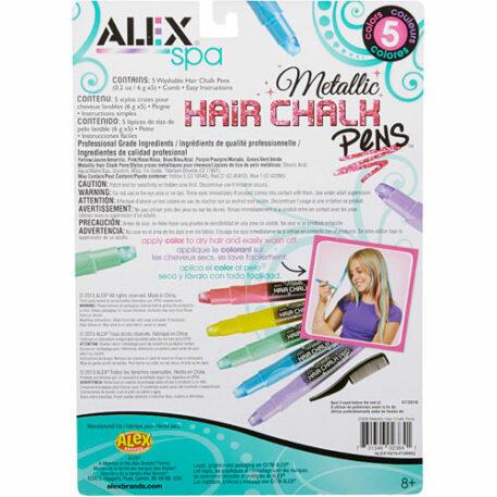 ALEX Toys Spa 5 Metallic Hair Chalk Pens