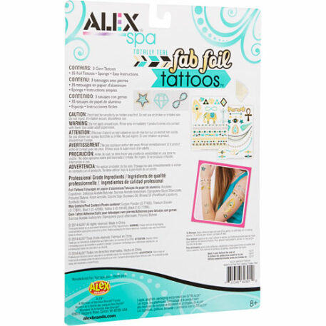 ALEX Spa Fab Foil Tattoos-Totally Teal