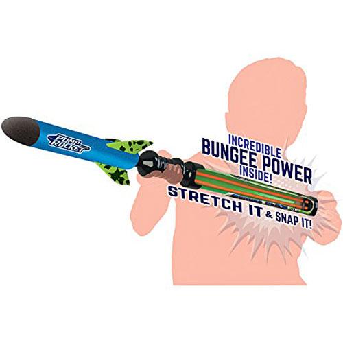 Bungee Blast Mini Foam Pump Rocket Toy With Ez Pull Bungee Power