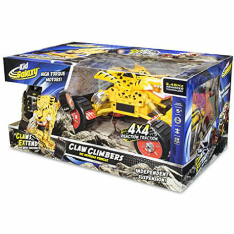 Kid Galaxy RC Off Road Car. Claw Climber Cheetah 4x4 Remote Control Vehicle, 2.4 GHz