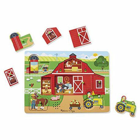 Melissa & Doug Around The Farm Sound Puzzle ( 8 Piece)