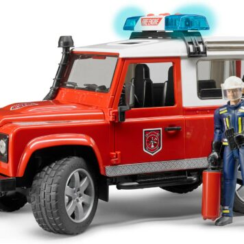 Land Rover Defender Station Wagon fire department vehicle with Light & Sound-Module and fireman