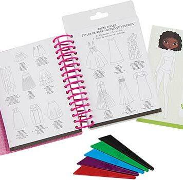 Mini Fashion Design Sketchbook
