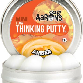 "Crazy Aaron's Amber Glow Thinking Putty 2"" Tin"