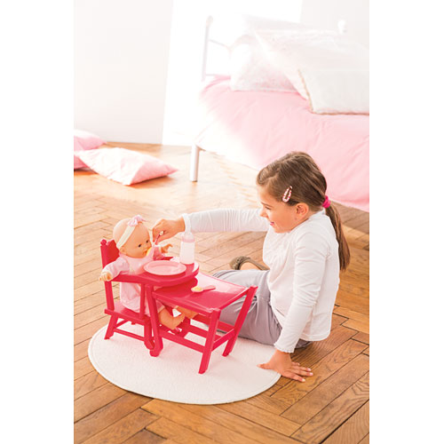 New Corolle Girls Mon Cherry Classique High Chair