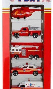 Fdny 5 Piece Vehicle Gift Set