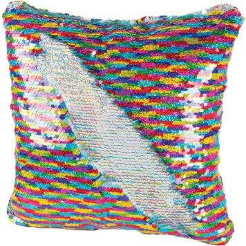 Magic Sequin Pillow Rainbow/Silver