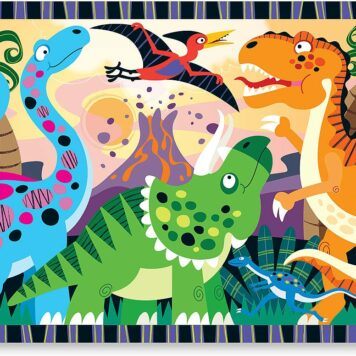 Dinosaur Dawn Floor Puzzle (24 pc)