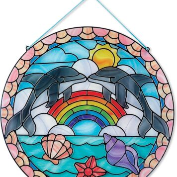 Stained Glass - Dolphins