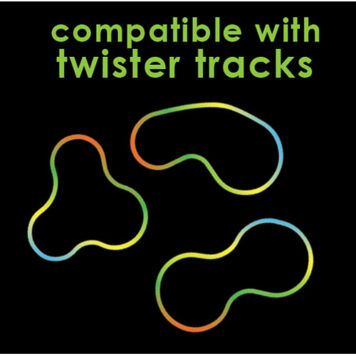 Twister Tracks 221 (11 feet) Neon Glow Track + 1 Green Race Car