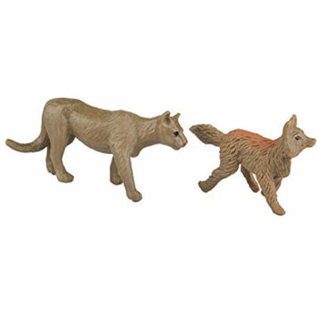 Safari Ltd Nature TOOB - Comes With 12 Different Hand Painted Figurine Models Including Gray Wolf, Moose, Raccoon, Beaver, Rabbi