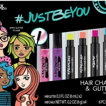ALEX Spa JUSTBEYOU Hair Chalk and Glitter Set