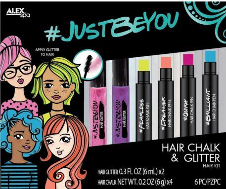 ALEX Spa JUSTBEYOU Hair Chalk and Glitter Set